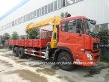 12t Telescopic Boom Montado camión sencillo con grúa
