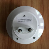 Домашний переходника заряжателя стены USB перемещения с воспринятием СИД светлым