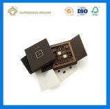 Belle boîte de papier de empaquetage estampée par configuration faite sur commande à chocolat (avec le plateau intérieur de PVC)