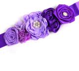 다채로운 진주 꽃 신부 벨트