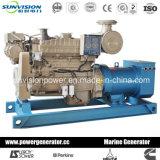 морской генератор 80kw Cummins с насосом морской воды, охлаждать киля или теплообменным аппаратом