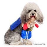 L'animal familier de modèle vêtx capitaine Dog Cosplay Costume des Etats-Unis de produits de crabot