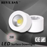белый свет Downlight УДАРА 3W СИД установленный поверхностью
