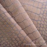 Tessuti di tessile della casa del pelo di Suedette del poliestere del cuoio impresso