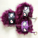 Promotional Gift Items Custom Fur POM POM Key Chain with Ring