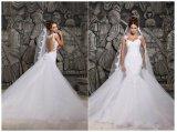 Mermaid Bridal Wedding Dresse поезда шнурка самый лучший продавая (ALSW011)