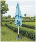 Ombrello esterno d'acciaio del patio con l'ombrello di spinta delle mani