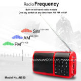 , FM, interruttore Full Band Portable Radio Subwoofer Speakers con il LED Light, Tempo Display ed USB Port