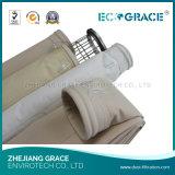 Высокотемпературный упорный цедильный мешок Nomex ткани пылевого фильтра
