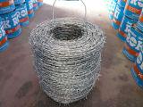 電流を通されたかみそりの有刺鉄線の網の囲うこと