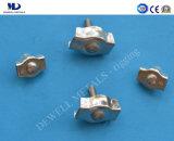 電流を通されるワイヤーロープクリップデュプレックスの電気