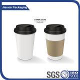 Tampa plástica personalizada do copo de café