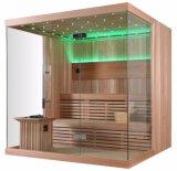 Style de luxe en bois massif LED Light Panel tactile Installation facile Sauna House (M-6042)