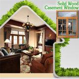Ventana con diseño de la parrilla, marco de madera de roble rojo de aluminio perfecto Windows del marco de madera sólida de la alta calidad