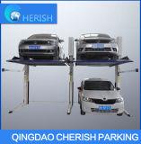Levage hydraulique sec de stationnement de véhicule de 2 postes