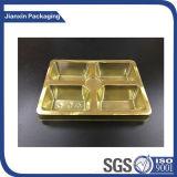 Plastikgoldnahrungsmitteltellersegment-Verpacken