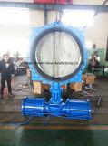Пневматическая сработанная ая клапан-бабочка с диском нержавеющей стали CF8