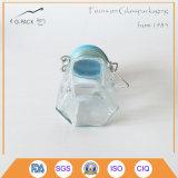Sechseckiges Glass Jar mit Flip herauf Cap für Salt, Pepper, Spice Packing