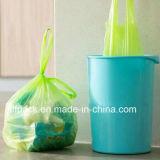 Saco de lixo do Drawstring/saco de lixo plástico
