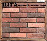 Da pedra artificial da cultura de China tijolos vermelhos da parede, pedras do falso para a decoração da parede