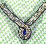 Уравновешивание ворота акрилового камня Beaded самого лучшего изготовления вспомогательного оборудования одежды в Китае