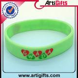 Wristband quente do silicone da venda com esmalte macio colorido