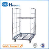 Stockage de supermarché Rolling Metal Security Cage Cart