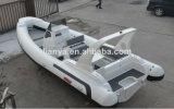 Bote de Hypalon del barco de la costilla del lujo del certificado los 7.5m del Ce con los accesorios