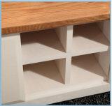 Gabinete simples europeu da tevê da madeira contínua ou carrinho da tevê