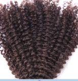 Cheveu humain de Remy de beauté de Vierge non transformée d'or de vente en gros avec la qualité de la meilleure qualité