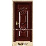 Laque peinte de haute qualité MDF HDF Composite Intérieur Porte en bois