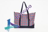 Course inclinée d'achats de sac d'épaule de denim de femme de sac de toile d'épaule confortable de sac et emballage de sports