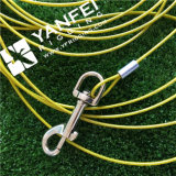 Corda de fio de aço revestida do PVC com gancho instantâneo