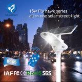 Lúmen elevado todo de 3 garantias em uma lâmpada de rua solar