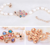 Weißer Frischwasserreis-Frischwasserperlen-Armband-Großverkauf perlen-Armband AAA-6-7mm