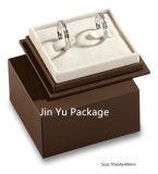 Caja de embalaje del regalo de papel de lujo de la joyería del color del chocolate