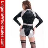 Costume sexy de salopette de barboteuse de chemise de robe d'usager de Veille de la toussaint des femmes long