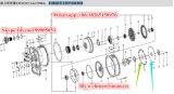 La caja de engranajes/la transmisión del cargador de la rueda de LG933 LG936 LG938 LG952 LG953 LG956 LG958 LG968 parte la placa elástico 4110000011115 4110000011114