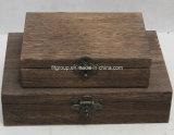 Коробка ювелирных изделий Eco-Friendly сбор винограда вычуры главного качества деревянная