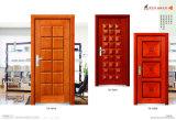 Portello esterno interno classico dell'entrata di legno solido