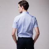 Italienische Muffen-königliches Blau-Smokinghemde für Männer