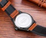 Шатон способа 6858 Wristwatch с большой пряжкой Ss кожаный планки шкалы 8screws