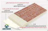 Выбитая панель сандвича пены PU металла твердая для украшения и изоляции стены