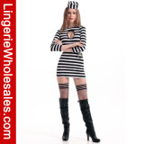 Costume платья каторжник Keyhold Жар-Формы Heartbreaker женщин светотеневой Striped