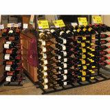 Flaschen-Wein-Draht-Metallbildschirmanzeige-Regal der Insel-Möbel-27-360 mit Qualitäts-Zahnstange