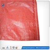 saco de alimentação 50kg tecido PP vermelho com impressão