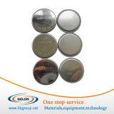 Casse delle cellule della moneta Cr2032 con la molla ed il distanziatore per ricerca della batteria