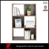 正方形の単位のクルミのビニールの記憶のShelfsの棚付けのDvdsの本箱の家具