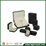 カスタム黒いビロードのプラスチック宝石箱