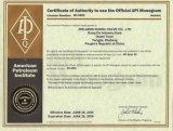 Las Swing Check Valve met Ce ISO API Certificates